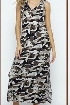 Blue B Sleeveless Camo Print Maxi Dress - Product List Image