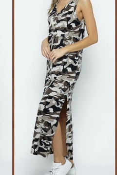 Blue B Sleeveless Camo Print Maxi Dress - Alternate List Image