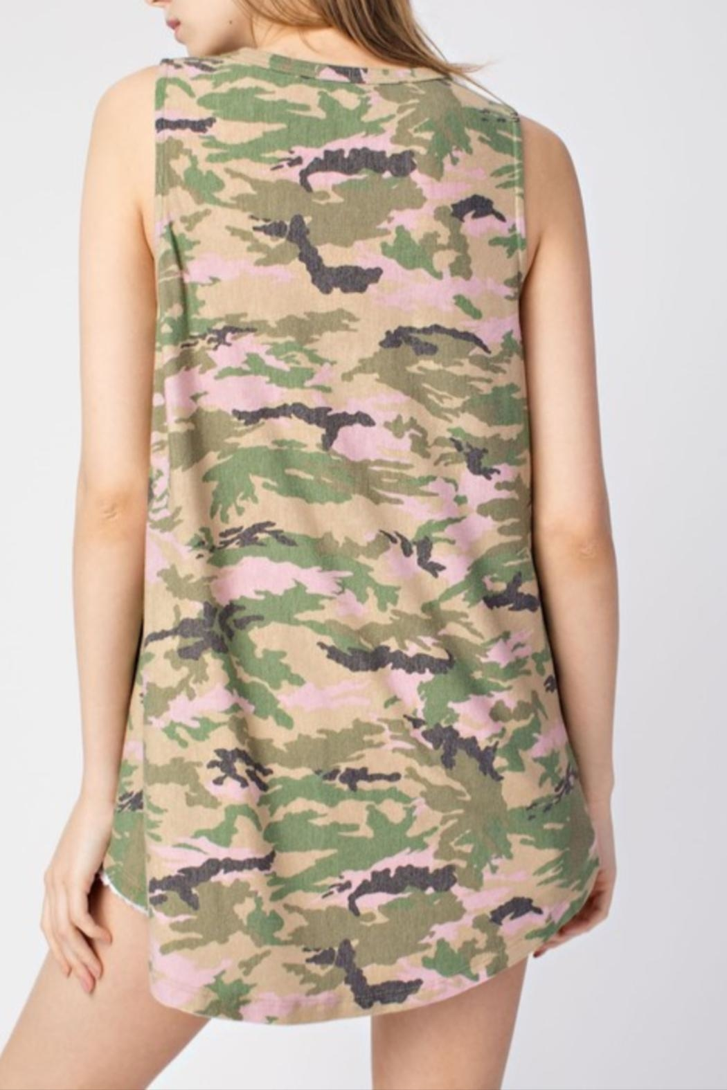 Mittoshop Sleeveless Camo Top - Front Full Image