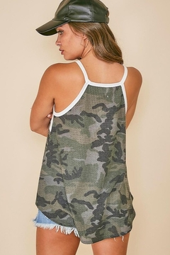 Fantastic Fawn  Sleeveless Camo Top with Color Block Front - Alternate List Image