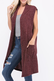 a.gain Sleeveless Cardigan - Front cropped