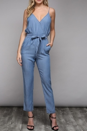 Do & Be Sleeveless Chambray Jumpsuit - Product Mini Image