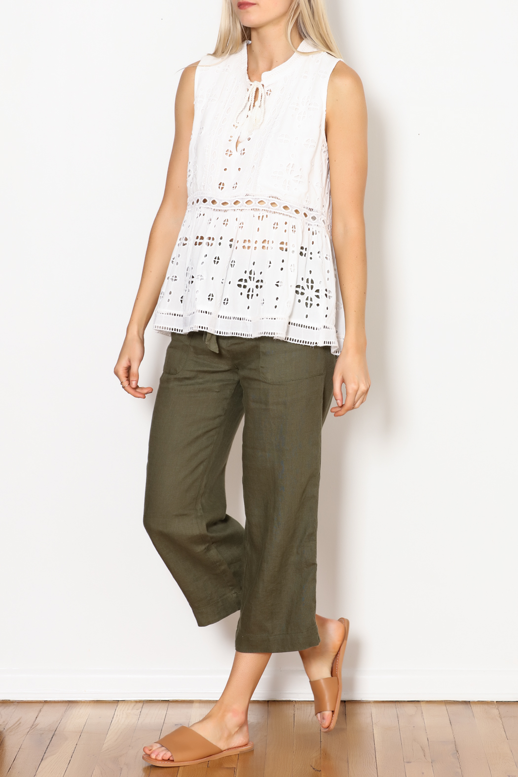 Dylan by True Grit Sleeveless Charlotte Tunic - Front Cropped Image