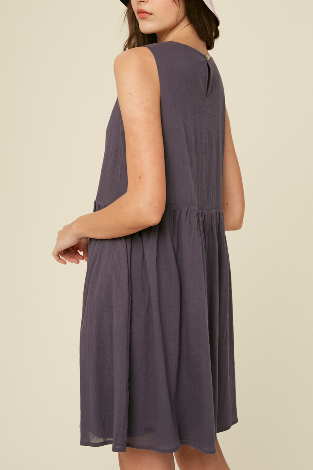 Listicle Sleeveless Cotton Babydoll - Front Full Image