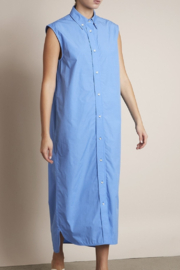 LouLou Studio Sleeveless Cotton Poplin Midi Dress - Product Mini Image