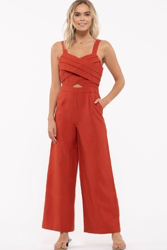 Just One Answer Sleeveless Cropped Jumpsuit - Product List Image