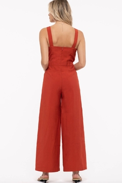Just One Answer Sleeveless Cropped Jumpsuit - Alternate List Image