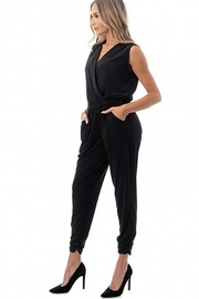 Ariella Sleeveless Crossover Front Jumpsuit - Front full body