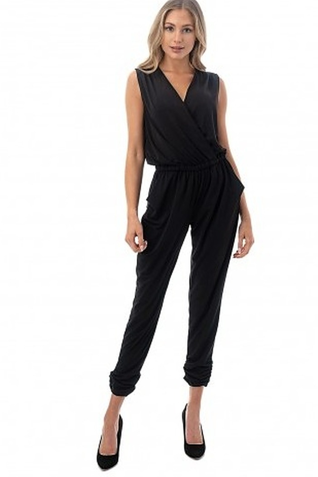 Ariella Sleeveless Crossover Front Jumpsuit - Main Image