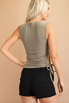 Glam Sleeveless Cut Out Knit Top - Alternate List Image