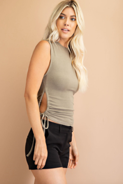 Glam Sleeveless Cut Out Knit Top - Product List Image