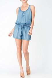 Sneak Peek Sleeveless Denim Romper - Product Mini Image
