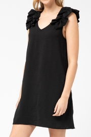 entro  Sleeveless dress with ruffle strap - Product Mini Image