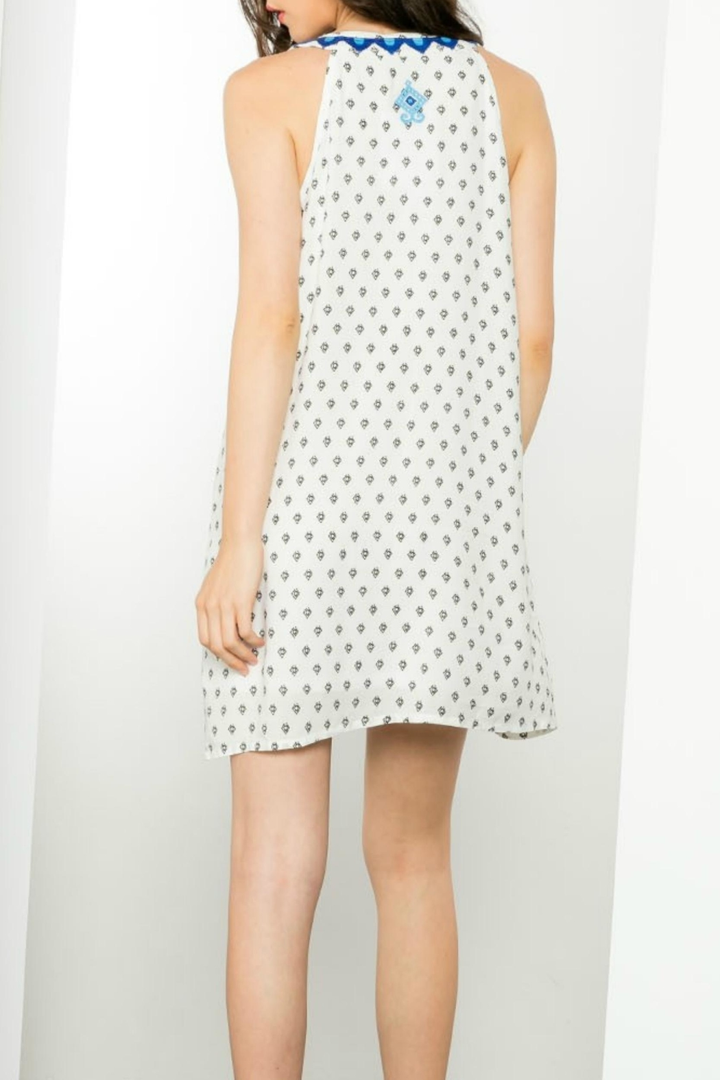 THML Clothing Sleeveless Embroidered Dress - Side Cropped Image