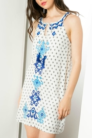 THML Clothing Sleeveless Embroidered Dress - Product Mini Image