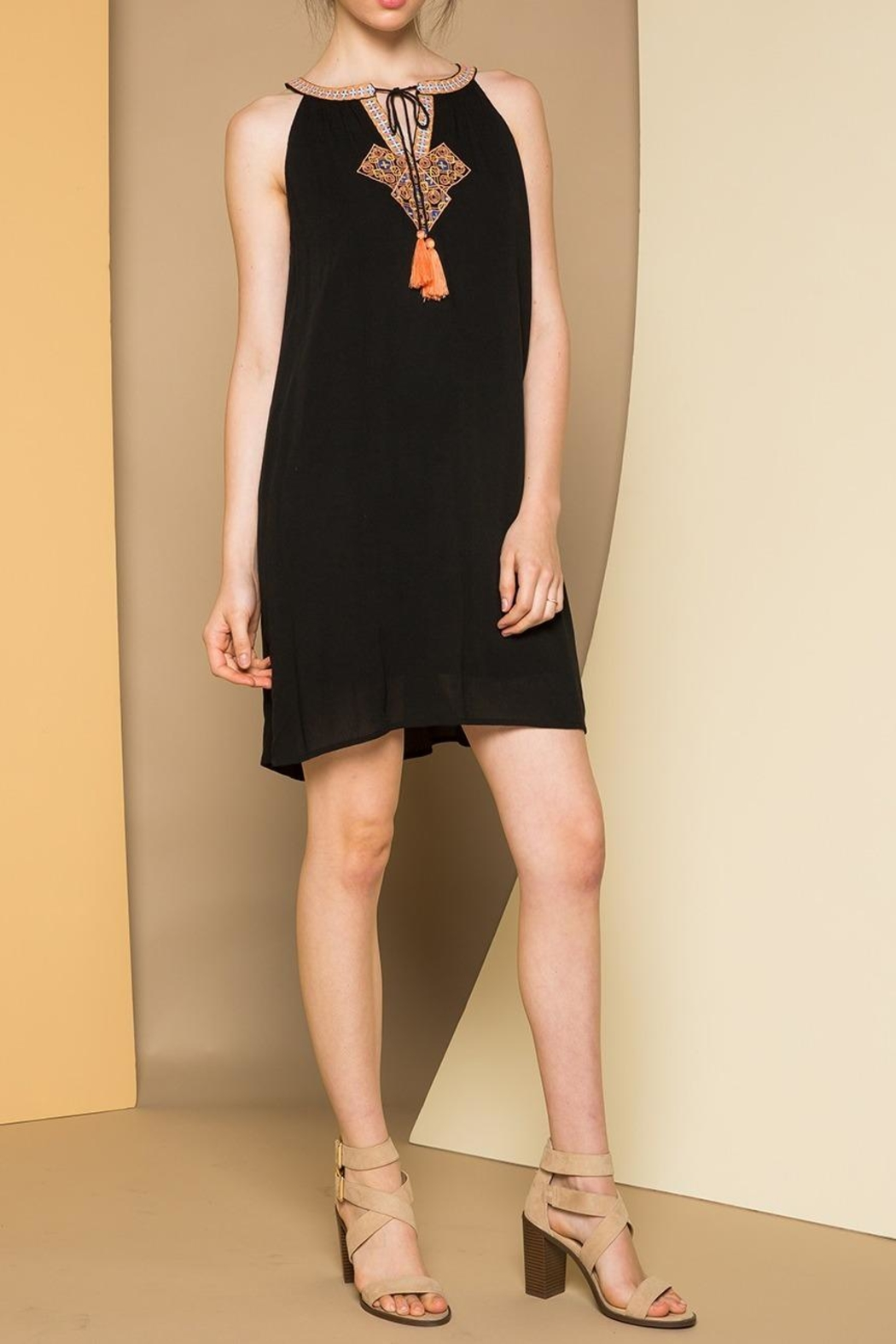 THML Clothing Sleeveless Embroidered Dress - Front Cropped Image