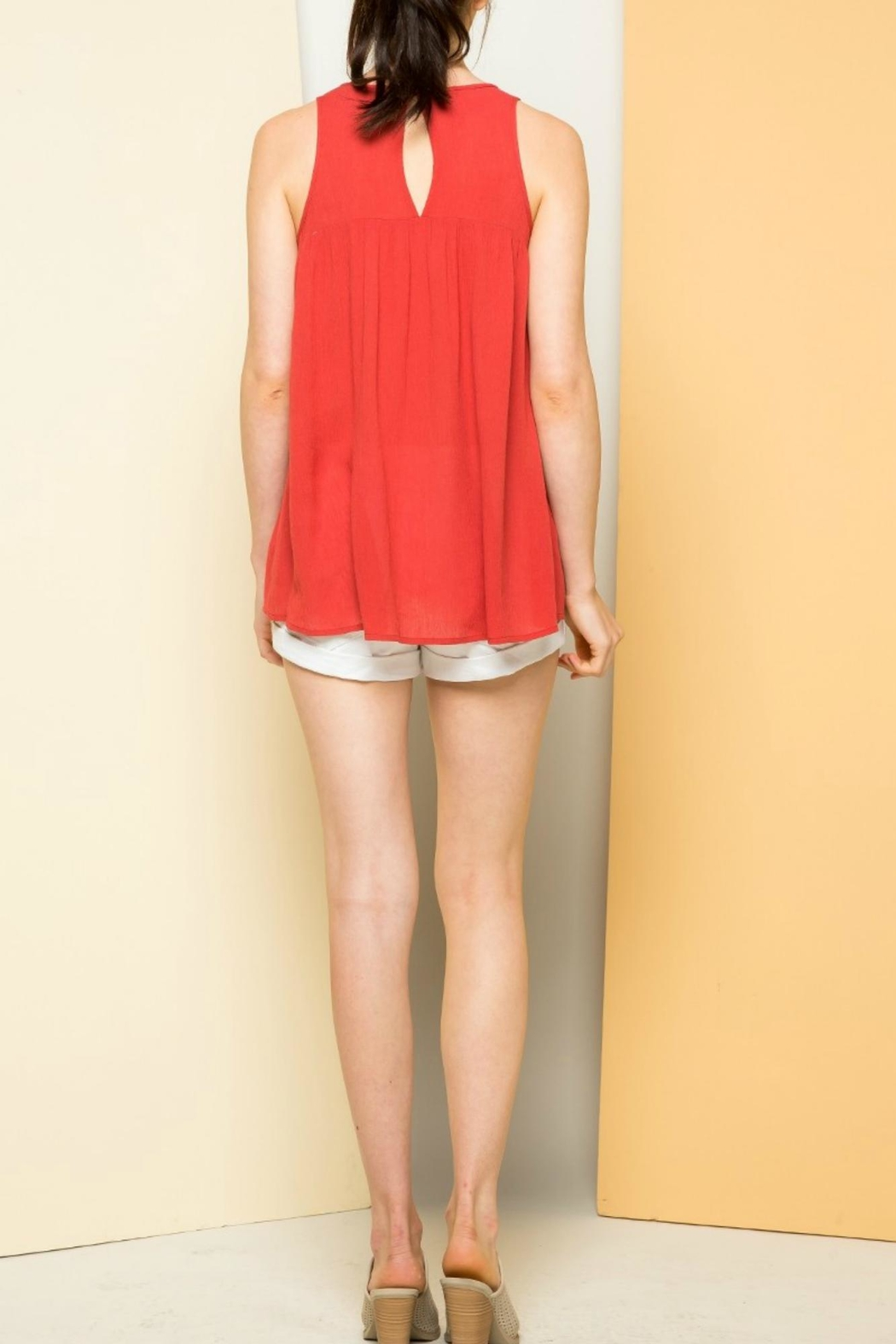 Thml Sleeveless Embroidered Top - Front Full Image