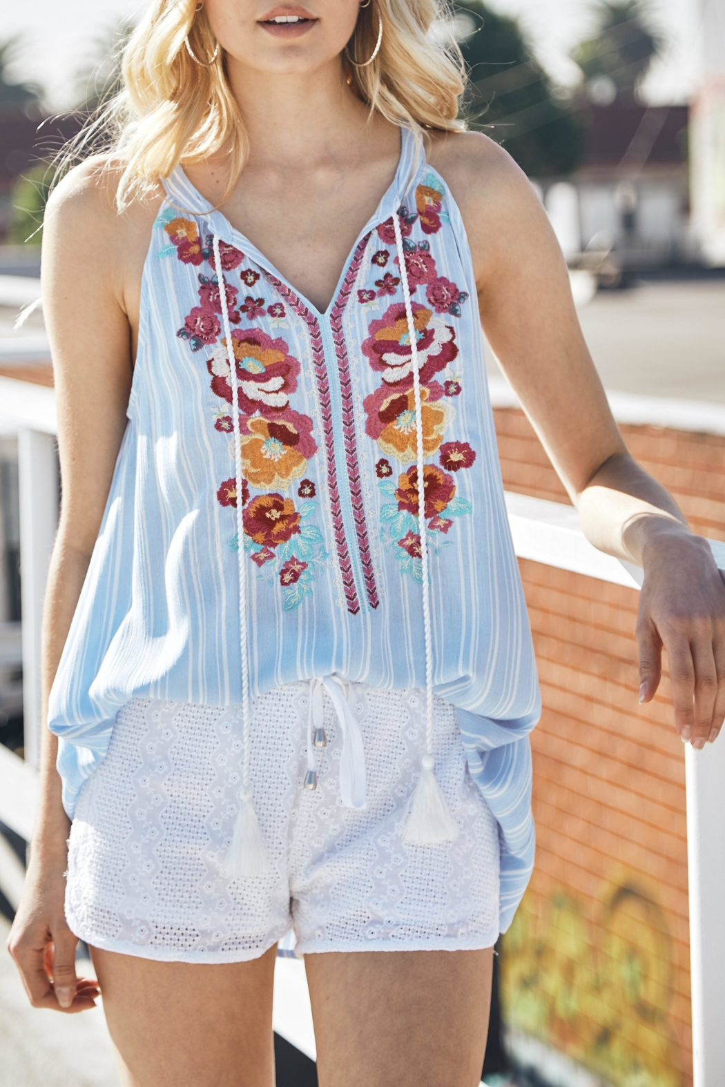 Andree by Unit Sleeveless Embroidered Top - Main Image