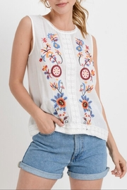 Paper Crane Sleeveless Embroidered Top - Product Mini Image