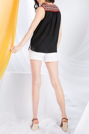 THML Clothing Sleeveless Embroidered Top - Back cropped
