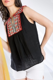 THML Clothing Sleeveless Embroidered Top - Front cropped