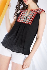THML Clothing Sleeveless Embroidered Top - Front full body