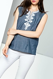THML Clothing Sleeveless Embroidery Top - Front full body