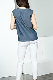 THML Clothing Sleeveless Embroidery Top - Side cropped