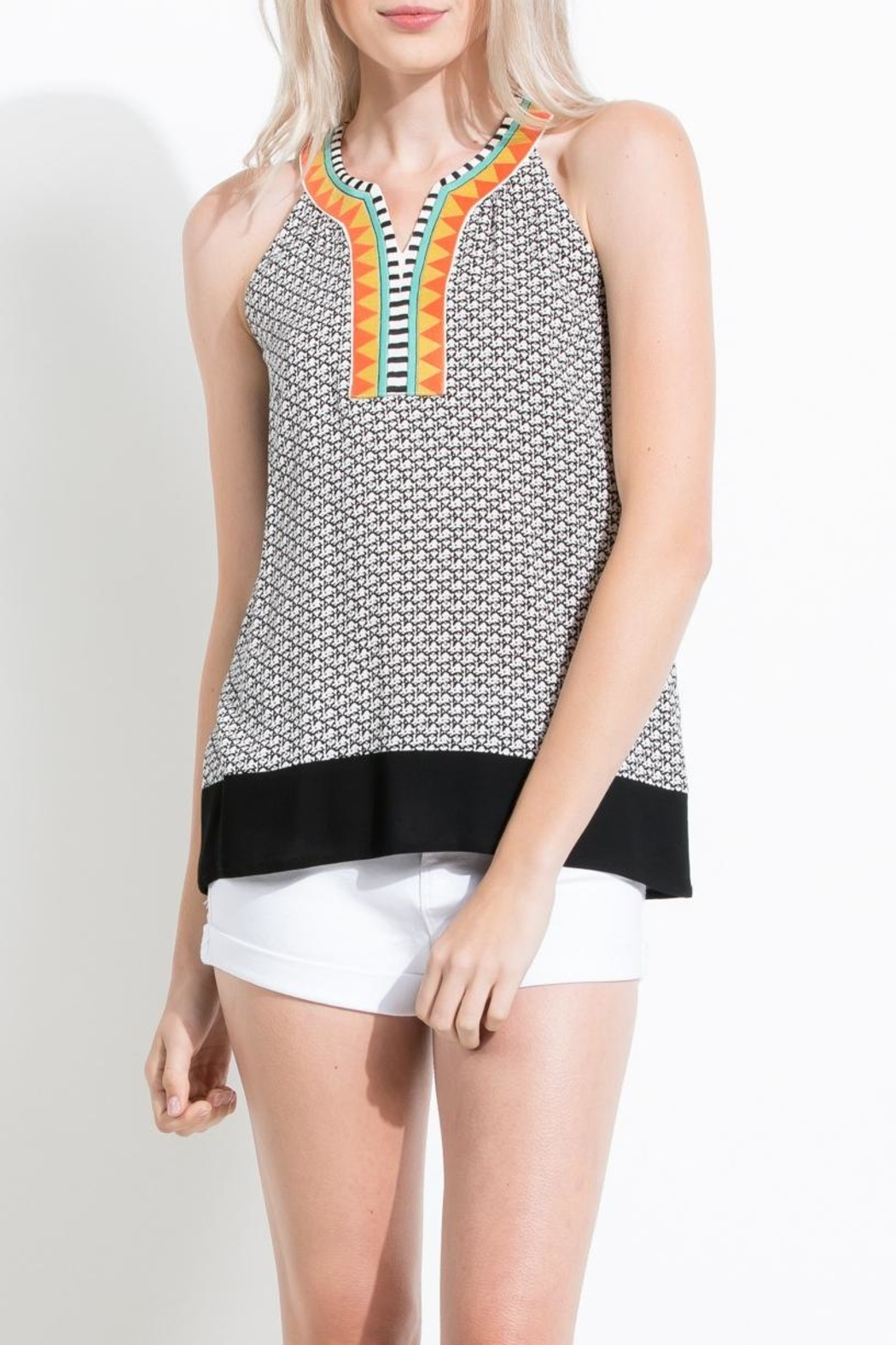 Thml Sleeveless Embroidery Top - Main Image