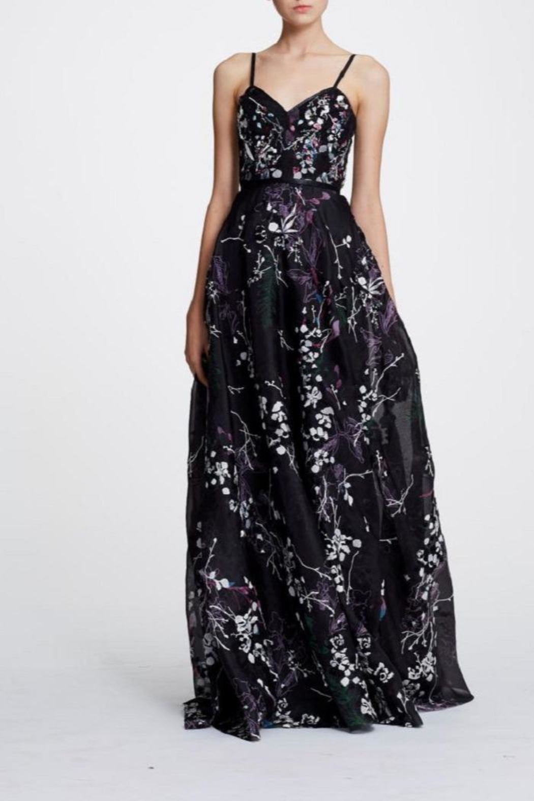 f1f925b6da Marchesa Sleeveless Floral Gown from New Jersey by District 5 ...