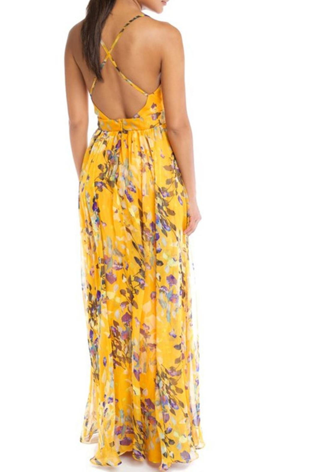 luxxel Sleeveless Floral Maxi - Front Full Image