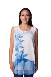 Fashion Cage Sleeveless Floral Tunic - Product Mini Image