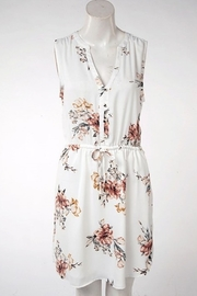 Dex Sleeveless Floral V Neck Dress - Product Mini Image