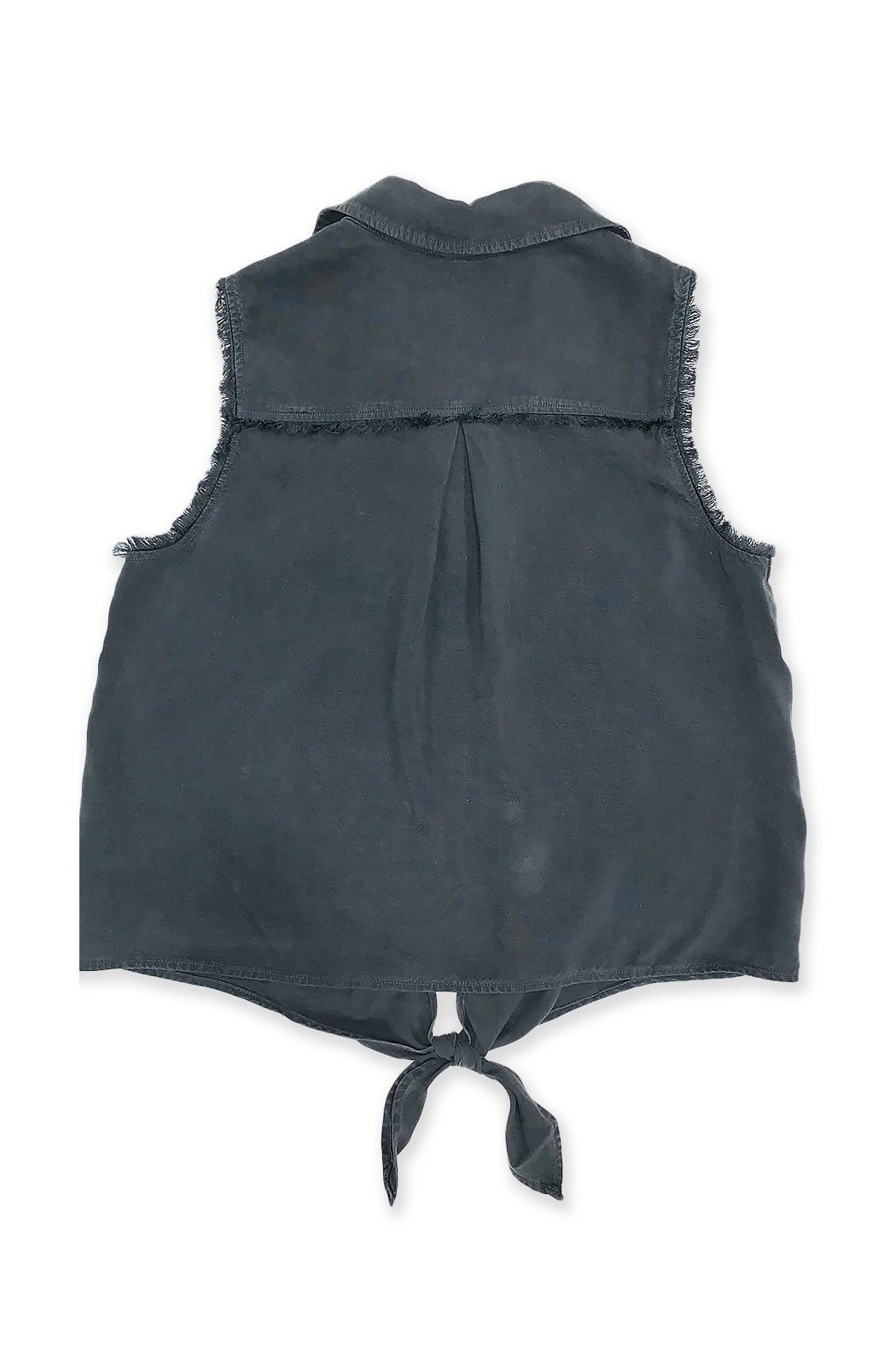 Bella Dahl  Sleeveless Frayed Tie Up - Front Full Image