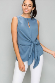 Glam Sleeveless Front Knot Top - Product Mini Image