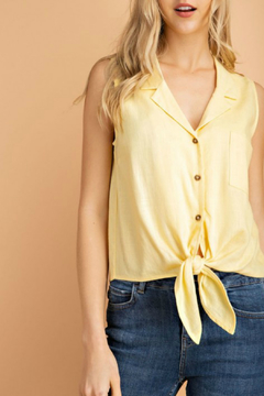 lelis Sleeveless front tie top - Product List Image