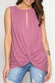 She + Sky Sleeveless Front-Twist Top - Product Mini Image