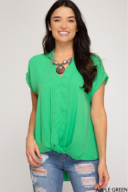 She and Sky SLEEVELESS FRONT TWIST WOVEN TOP - Product Mini Image