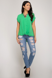 She and Sky SLEEVELESS FRONT TWIST WOVEN TOP - Other