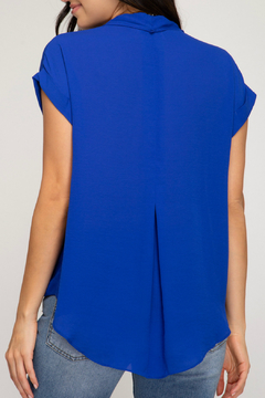 She + Sky Sleeveless Front Twisted Top - Alternate List Image