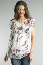 Tempo Paris Sleeveless Gathered Blouse - Front cropped