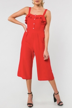 Everly Sleeveless Jumpsuit, Red - Product List Image