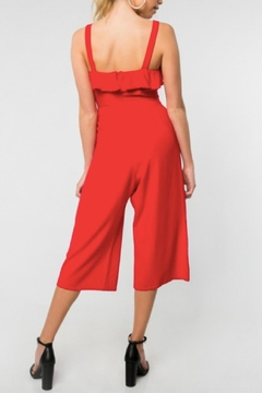 Everly Sleeveless Jumpsuit, Red - Alternate List Image
