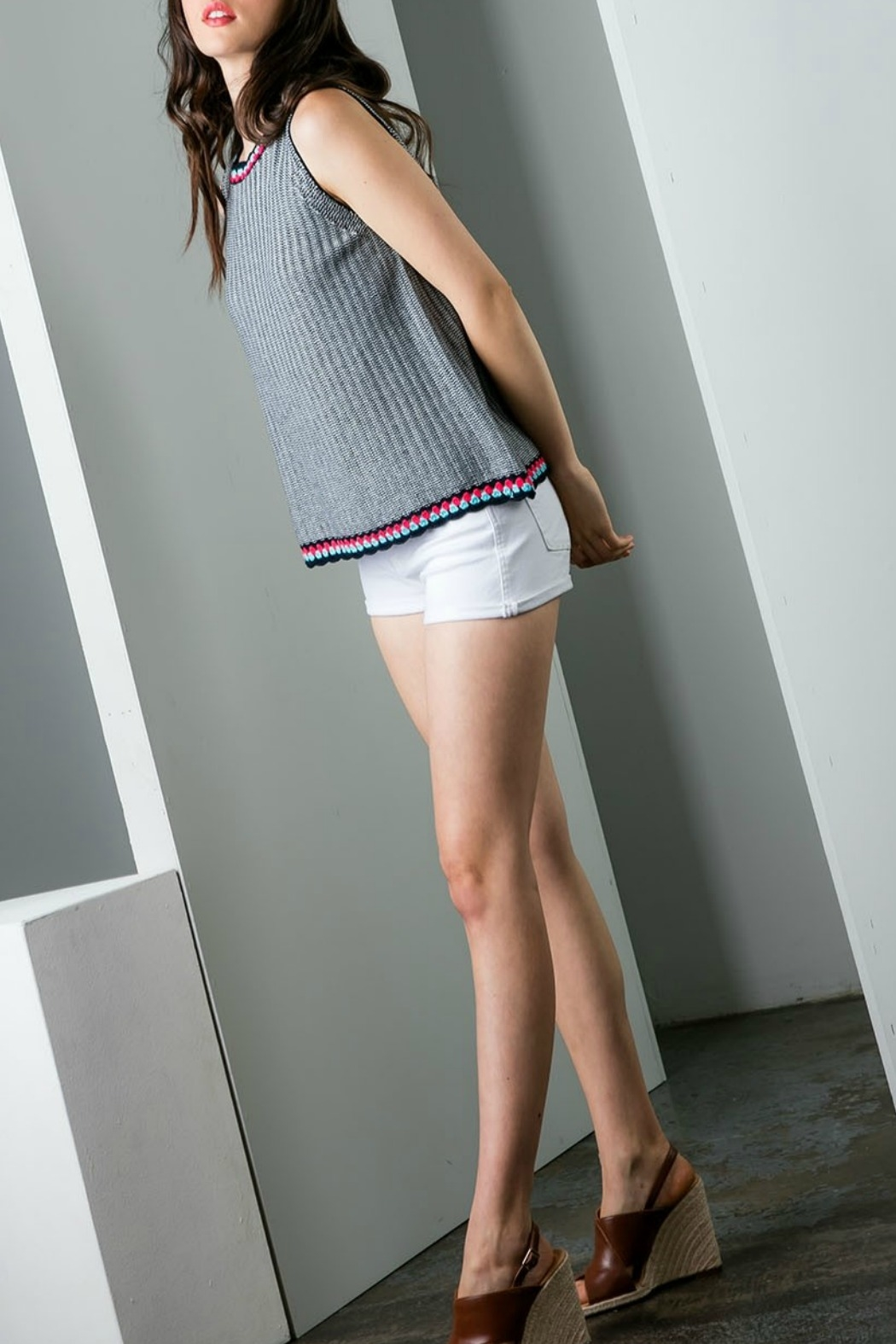THML Clothing Sleeveless Knit top - Front Full Image
