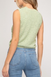 She and Sky Sleeveless Knit Top - Front full body