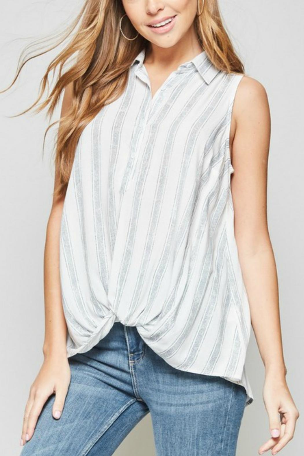Andree by Unit Sleeveless Knotted Shirt - Main Image