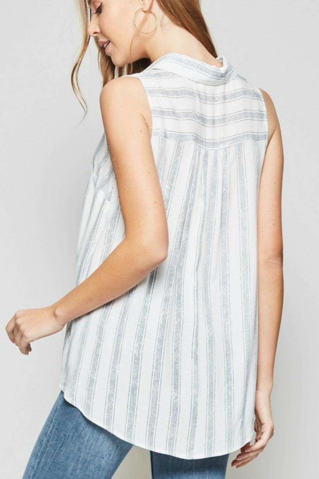 Andree by Unit Sleeveless Knotted Shirt - Front Full Image