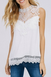 Racheal Sleeveless Lace-Contrast Tank - Product Mini Image
