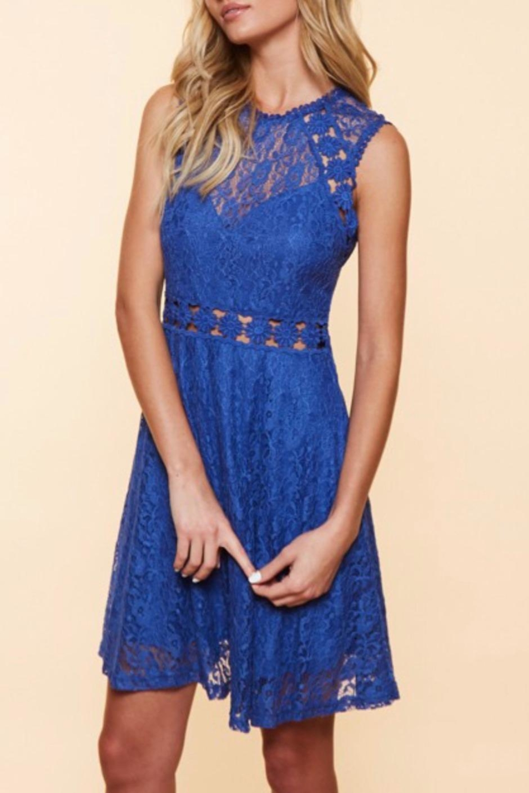 Available Sleeveless Lace Dress - Side Cropped Image