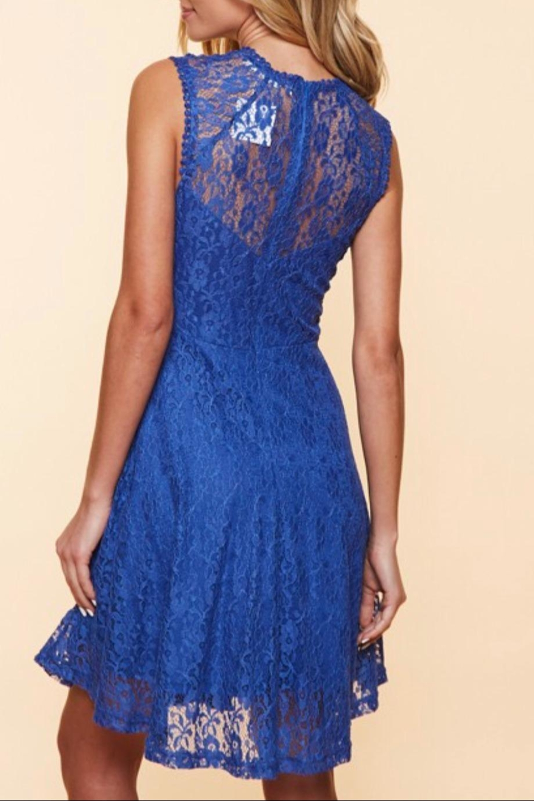 Available Sleeveless Lace Dress - Front Full Image